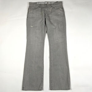 Express Rocco Slim Boot Cut 36 X 34 Gray Jeans